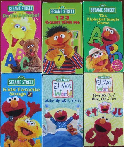 6 Sesame Street Early Learning Preschool Videos Alphabet