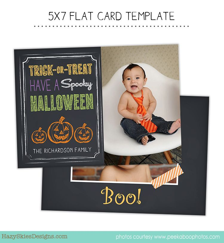 Halloween Photo Card Template For Photographers Halloween Photo Card Card Template Photographe Halloween Cards Halloween Photo Cards Photo Card Template