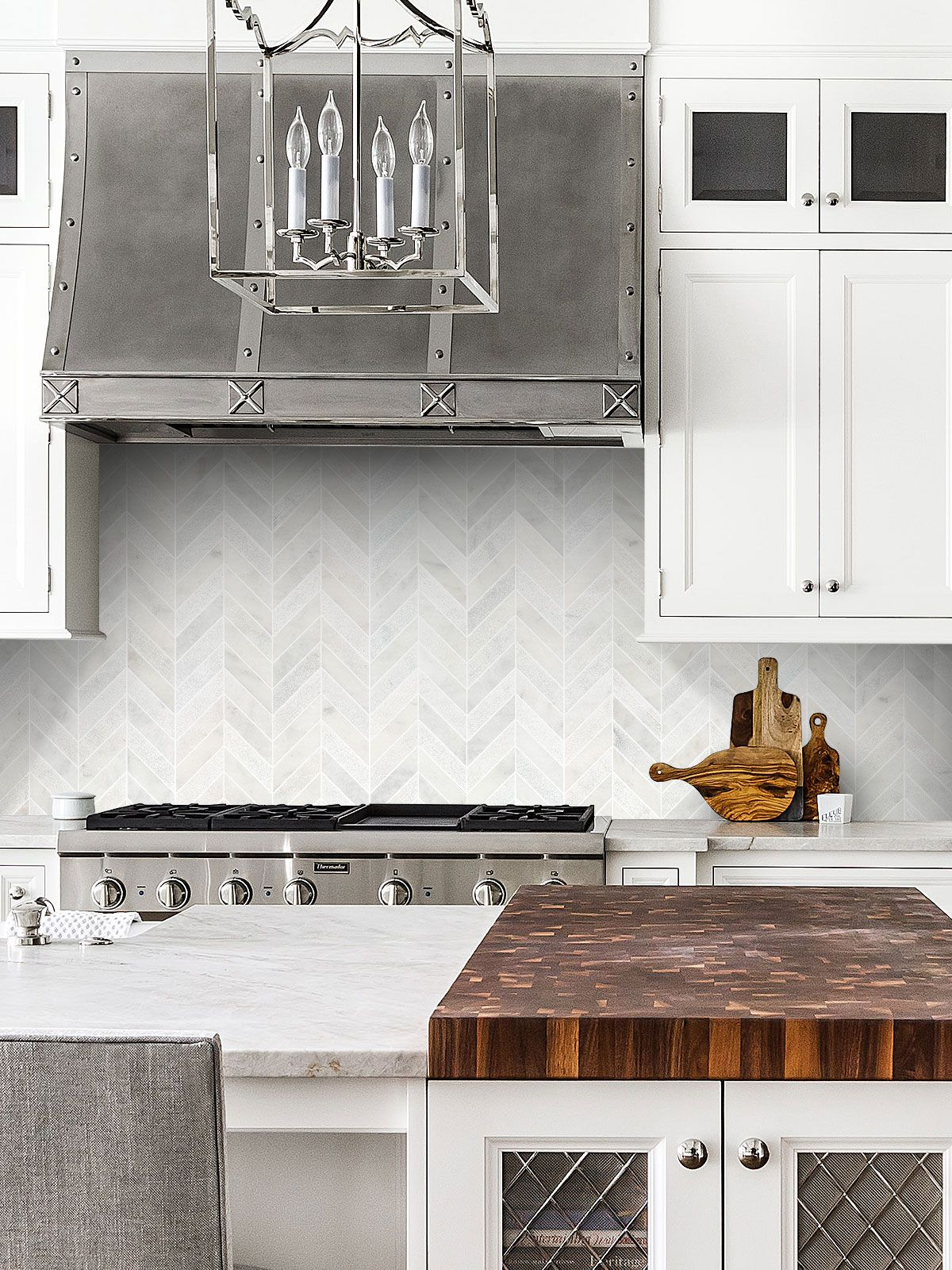 White Modern Marble Chevron Backsplash Tile Backsplash Com In