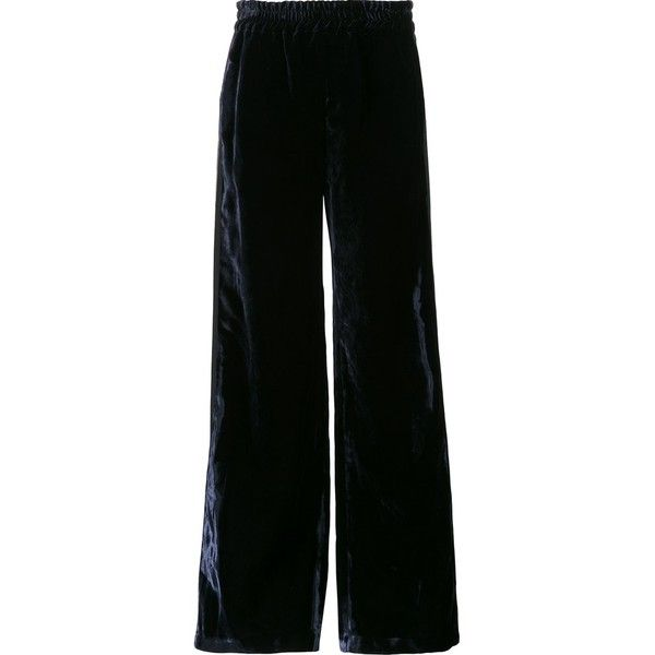 460ba6739291 Faith Connexion Velvet Effect Palazzo Pants (10.893.695 IDR) ❤ liked on  Polyvore featuring pants, kirna zabete, kzloves, velvet underground, loose  pants, ...