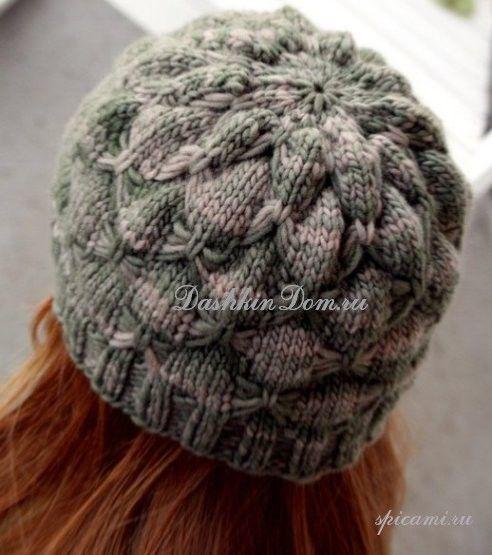 вязаные шапки спицами   Knitting   Вязаные шапки, Зимние ...