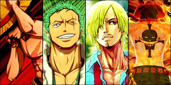 Luffy  Zoro  Sanji  Ace