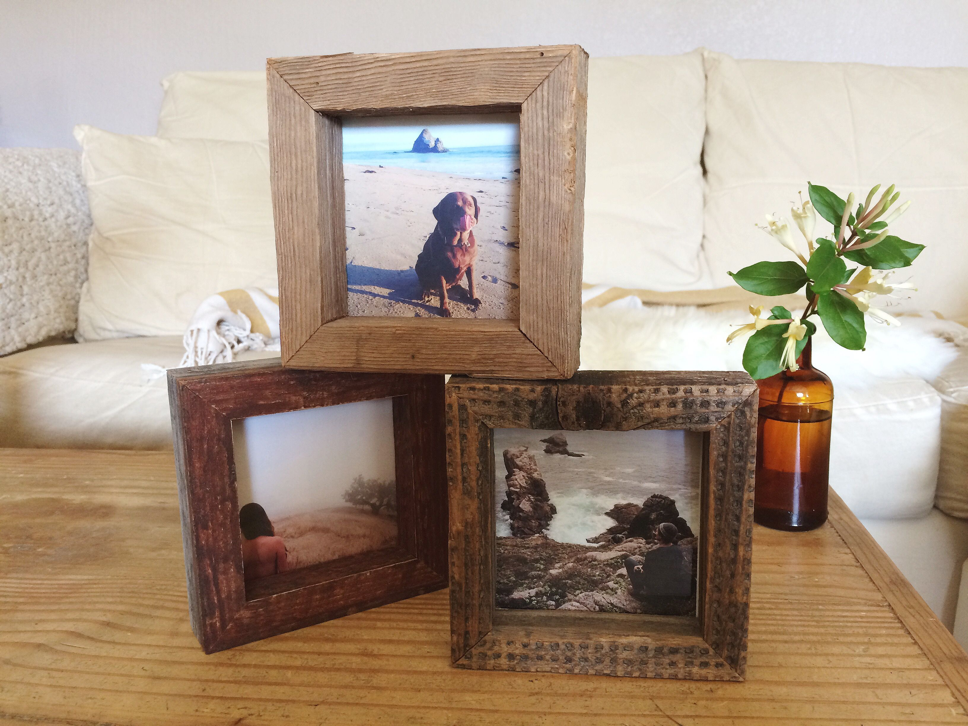 Reclaimed Wood Simple 4x4 Picture Frame Hand Made In Santa Cruz