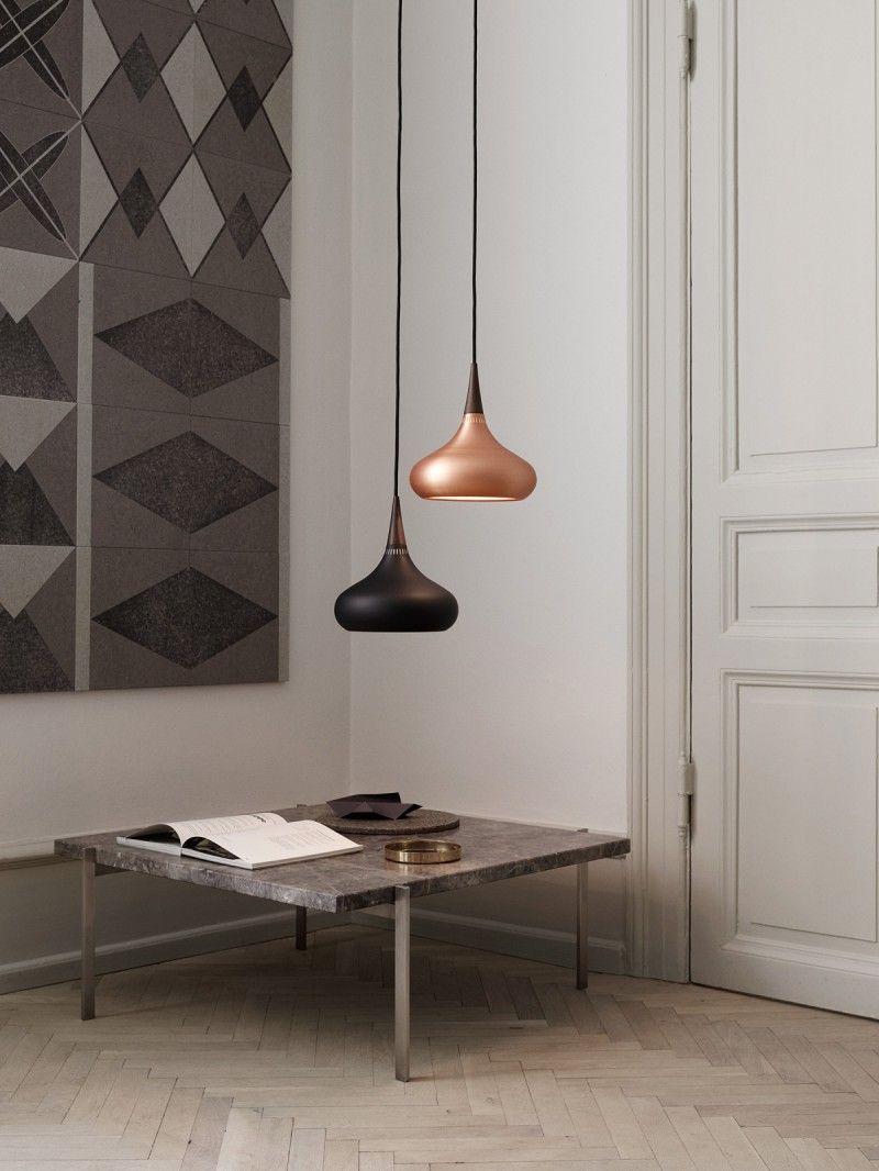 Pin von designort licht lampen leuchten auf kupfer for Designerleuchten esszimmer