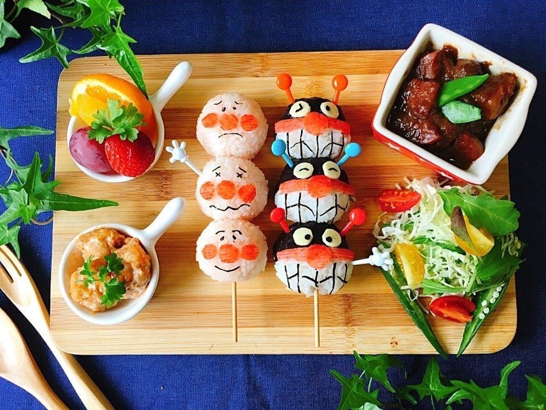 Seaさんのお料理お団子アンパンマン バイキンマンのワンプレートごはん Snapdish Foodstagram Instafood Food Homemade Cooking Japanesefood 料理 手料理 ごはん おうちごはん 2歳 誕生日 料理 誕生日 料理 アンパンマン お弁当