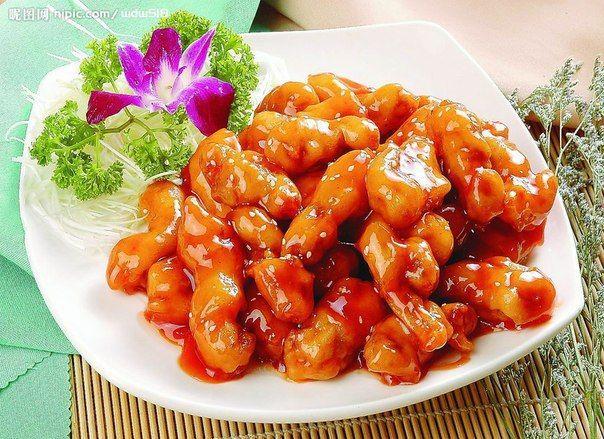 Соломка из свинины в кисло-сладком соусе 糖醋里脊