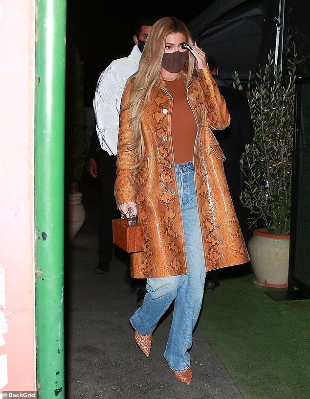 Kylie Jenner hits up a swanky restaurant in Santa