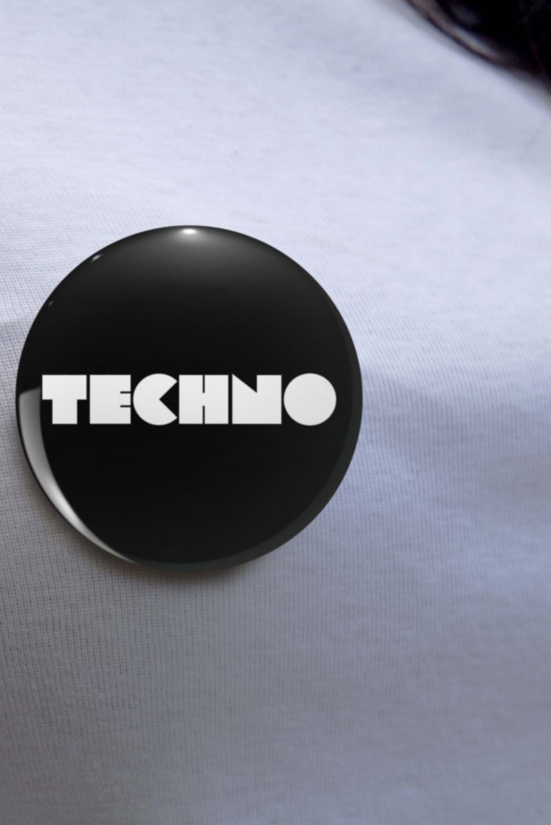 Round Techno black pinback buttons for instant awesome, just about anywhere. Your choice of two sizes: petite Small and in-your-face Large. Printed to order, just for you. #techno #shirt #tees #zovtees #techno #rave #EDM #technofashion #raven #technoliebe #technomusic #technolife #technolove #technokind #ravefashion #technodance #electronicmusic #lovetechno #technoparty #ilovetechno #festival #party #technoclub #rave #dj #raveparty #ravefamily #pin #zovtees