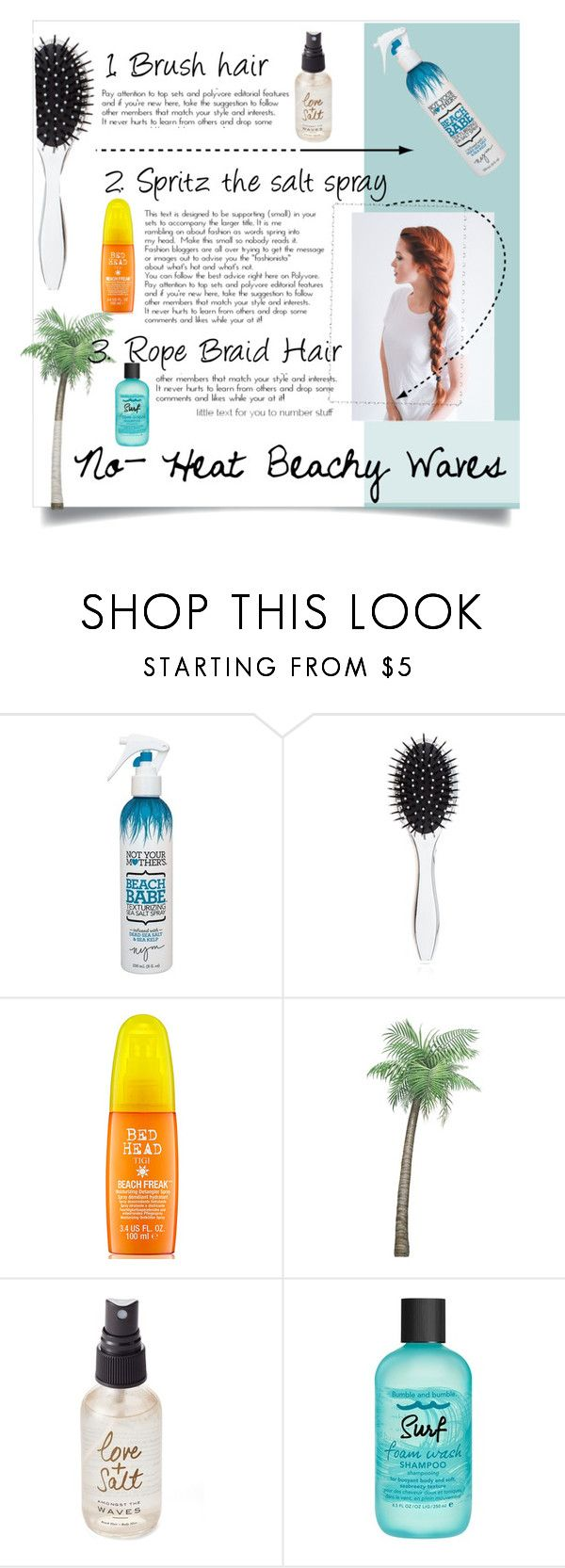 """""""Not exactly"""" by panda10-9-15 ❤ liked on Polyvore featuring beauty, Not Your Mother's, New Look, Olivine, Bumble and bumble and beachhair"""