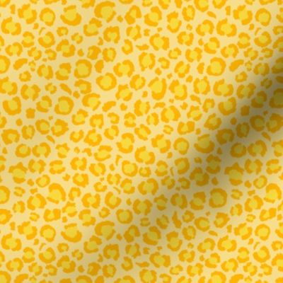 Colorful fabrics digitally printed by Spoonflower - ♥ Leopard Print Mellow Yellow Leopard Spots