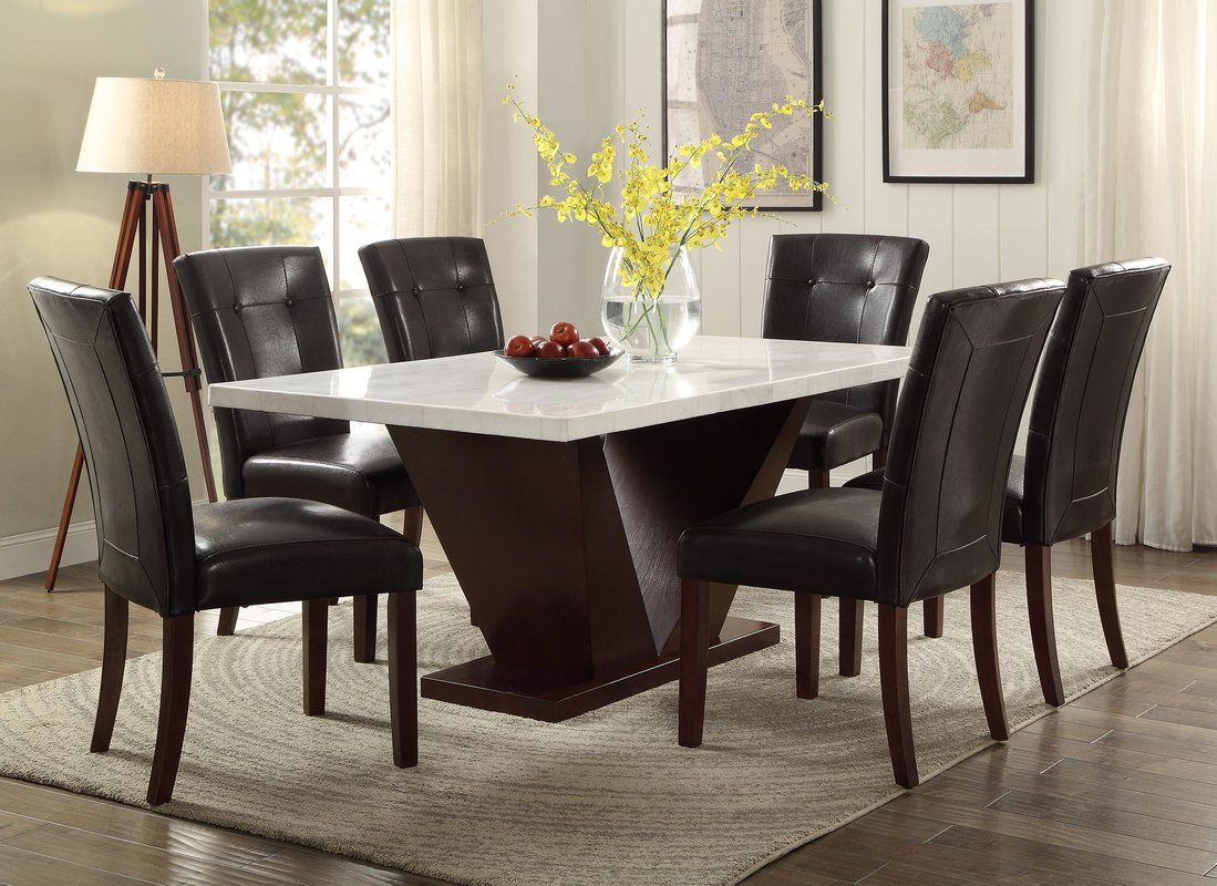 Luxurious Marble Top Dining Table Set Marble Top Dining Table