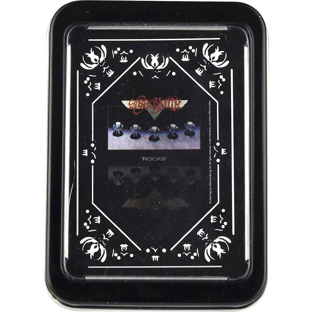 Iconic Concepts - Aerosmith Rocks Single Deck Playing Cards - Black/White/Purple/Red