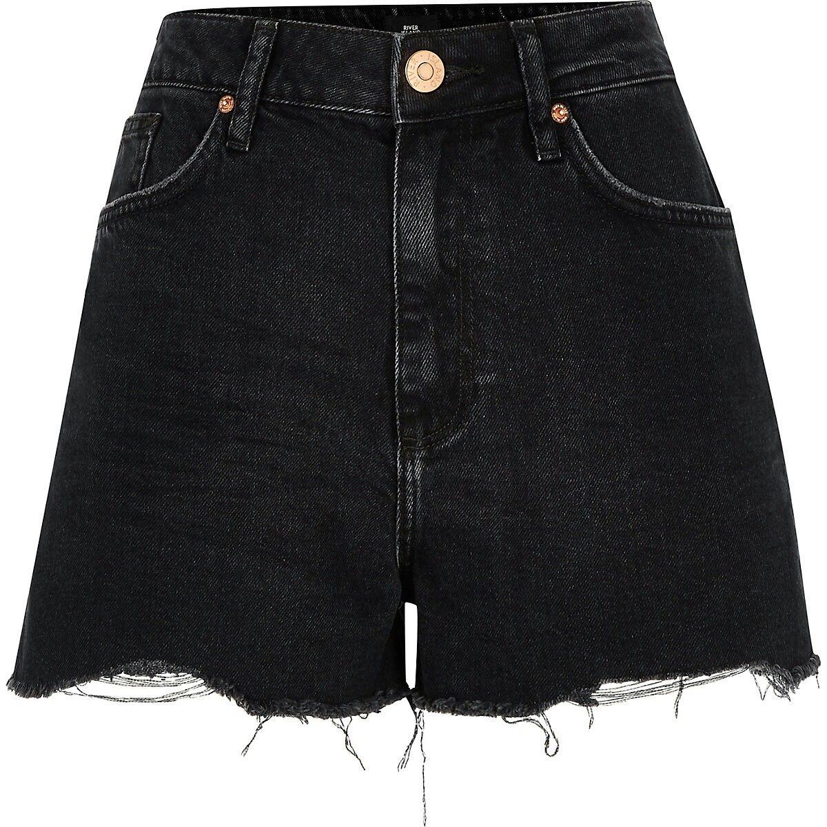 51abbd7e878 Black Annie washed high waist denim shorts | RI Denim Shorts in 2019 ...