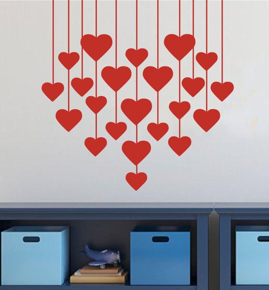 Teste Padr O Dos Cora Es Valentines Day Amor Vinil Remov Vel  ~ Painel De Fotos Para Quarto Coração