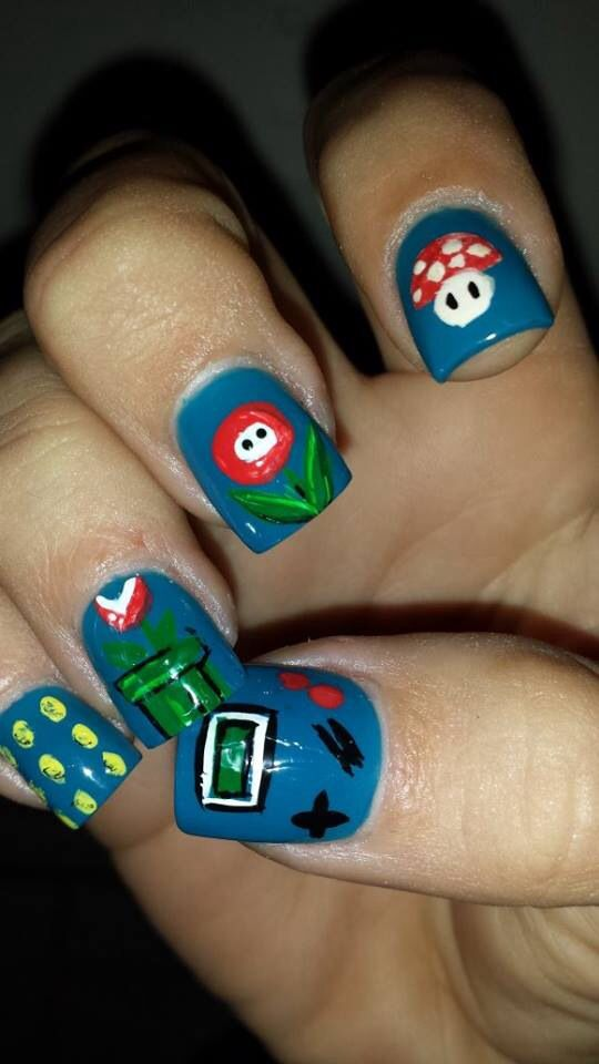 Nintendo nail done girls got game   Nail art done by our talented ...