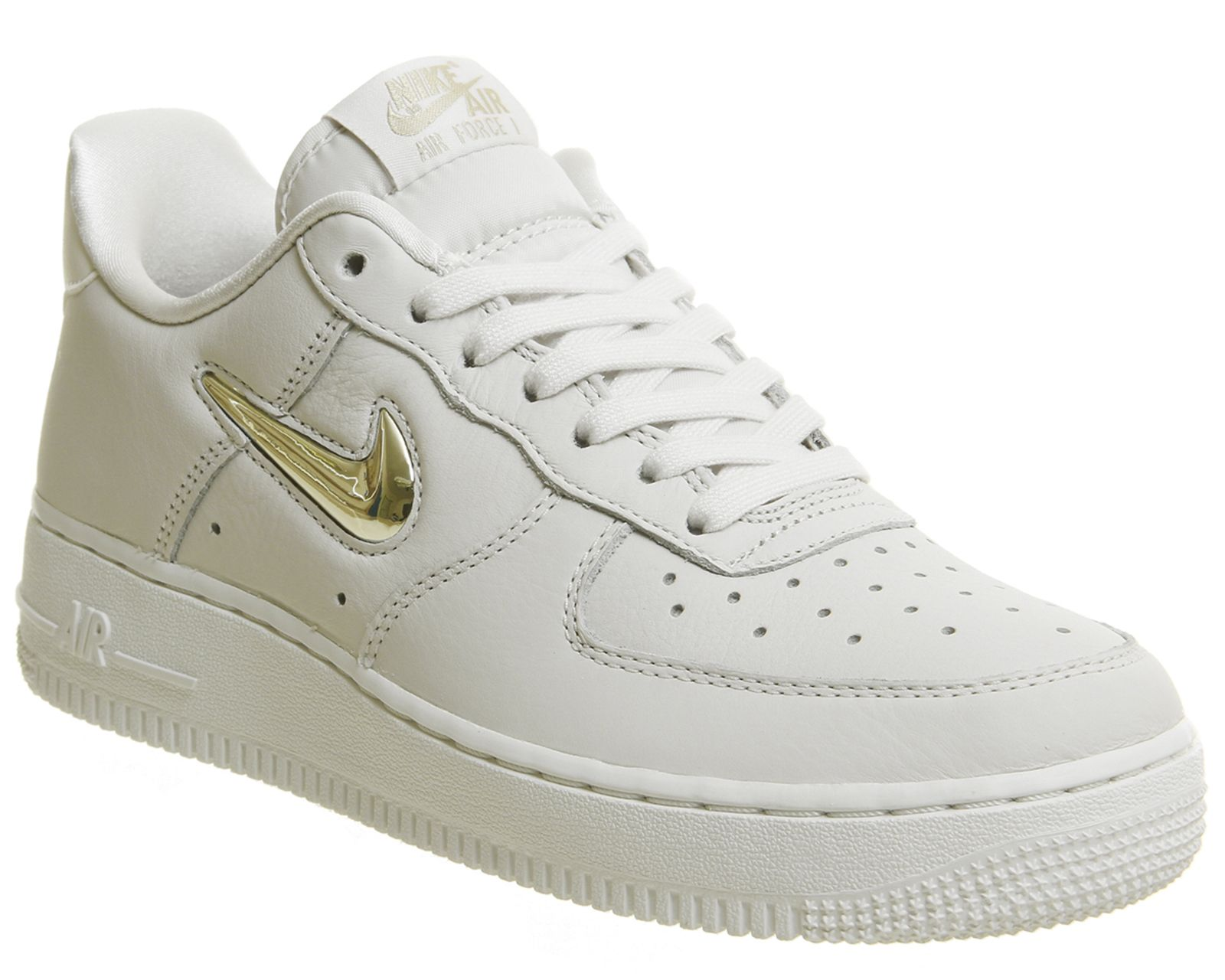 Nike, Air Force 1 Jewel Trainers, Phantom Metallic Gold Star