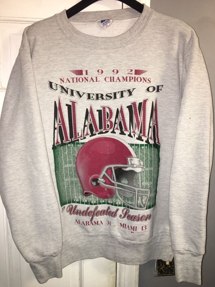 92e47e80d94e2d Vintage University Of Alabama Football 1992 National Champions Sweatshirt |  eBay
