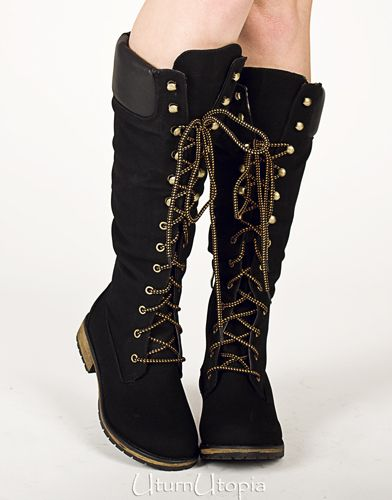 Knee High Grunge Lace Up Knee High Combat Work Boots sold by Uturn Utopia.  Shop more products from Uturn Utopia on Storenvy, the home of independent  small ...