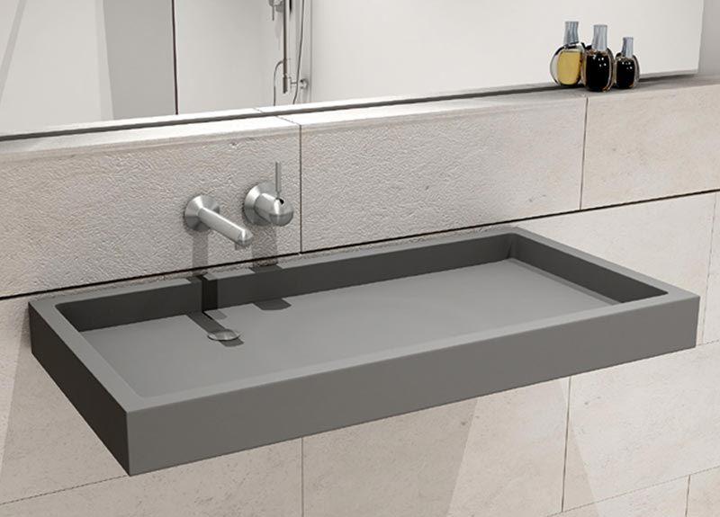 Puristisch Flach Kantig Bw90 Waschtisch Von Hightech Aus Glasfaserbeton Aufsatzwaschbecken Waschbecken Design Waschtisch