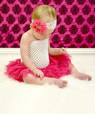 Hot Pink & Ivory Tutu Set - Infant #zulily #zulilyfinds