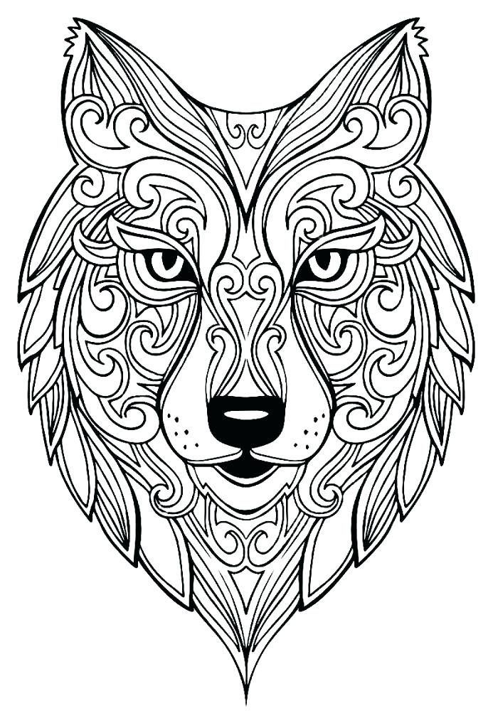 Coloring Pages For Adults Wolf : coloring, pages, adults, Coloring, Pages, Adults, Animal, Pages,, Mandala, Drawing