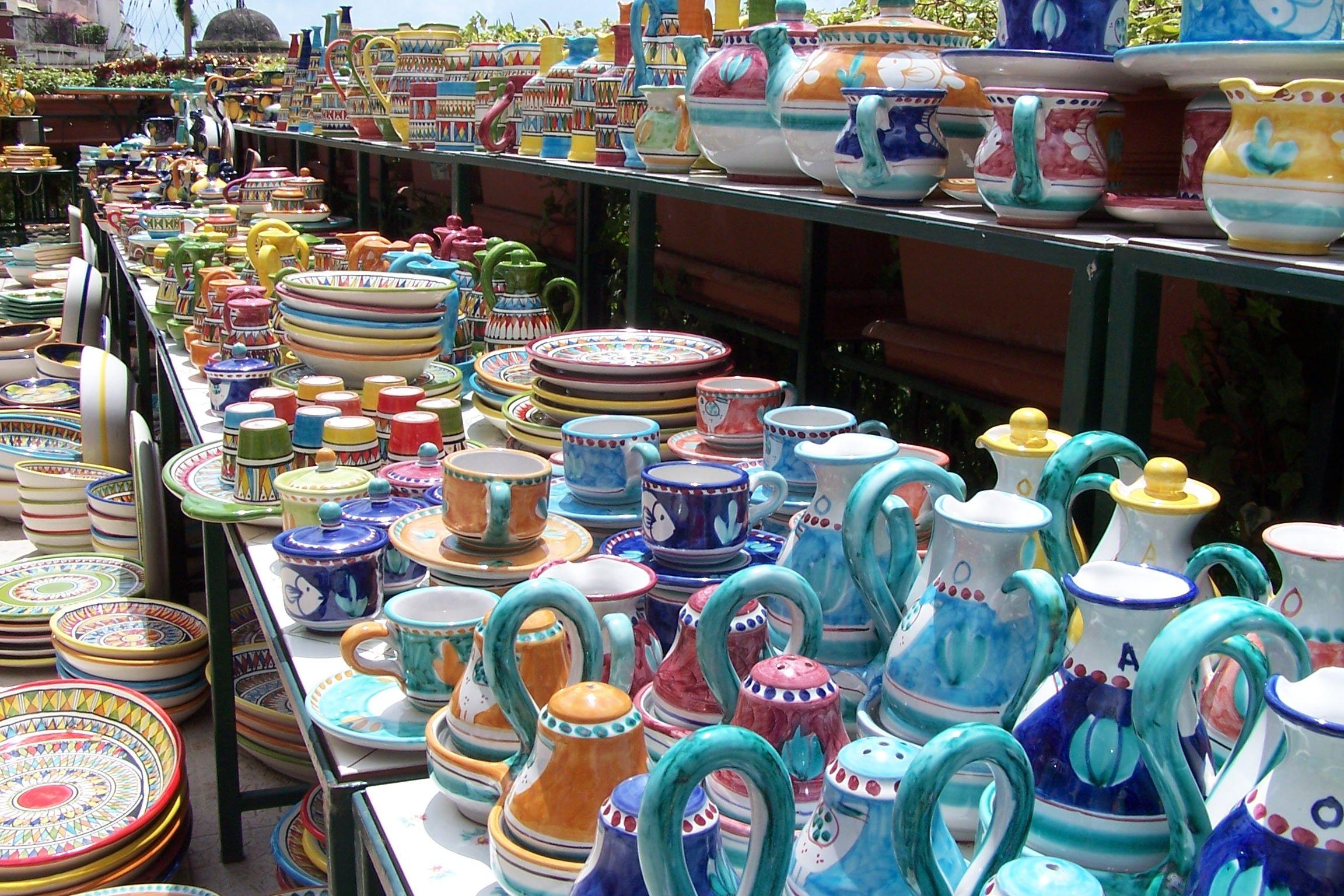 Ceramics in Positano, Italy