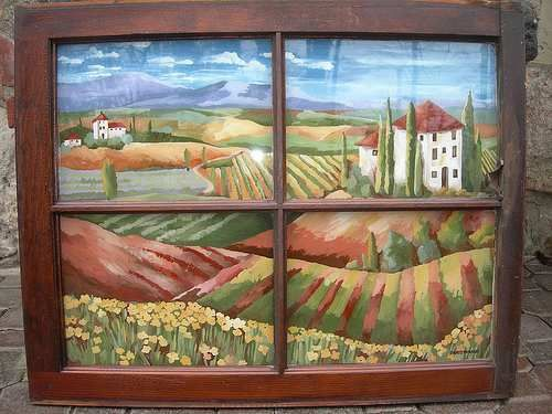 window treatments for country theme window treatments in tuscan style bamboo blinds