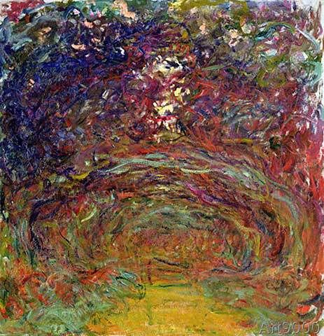Claude Monet - The Rose Path at Giverny, 1920-22
