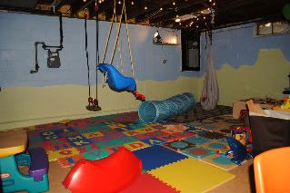 Pin By Christa Ellis On Basement Indoor Playground Unfinished Basement Playroom Unfinished Basement Basement Remodel Diy