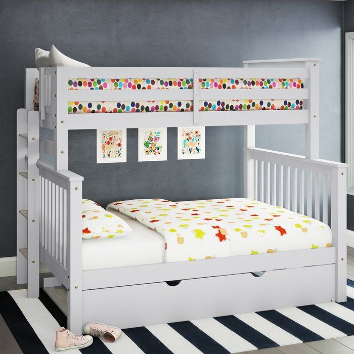 Treva Twin Over Full Bunk Bed with Trundle | Trundle bed ...