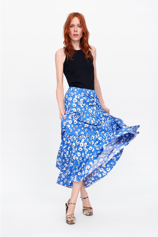 falda estampado floral | blumenmuster rock, gehrock damen