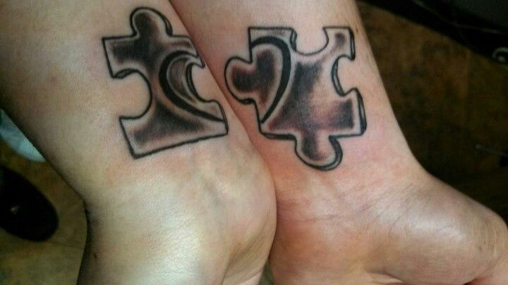 couple matching puzzle tattoo tattoos pinterest. Black Bedroom Furniture Sets. Home Design Ideas