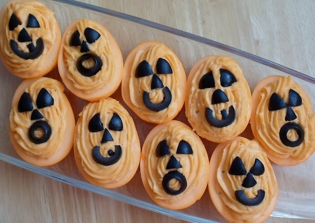 30 Creative Deviled Egg And Hard Boiled Egg Holiday Ideas #halloweendeviledeggs