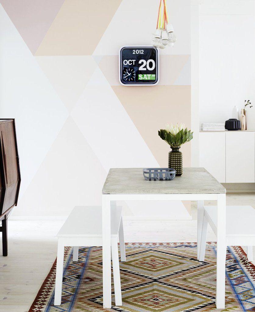 daphnedecordesign_la peinture graphique pour sublimer vos murs cuisine salle manger pastel scandinave - Salle A Manger Peinture Des Murs