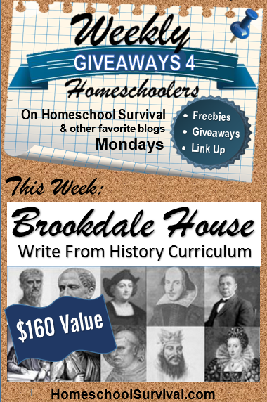 Write From History- $160 curriculum giveaway