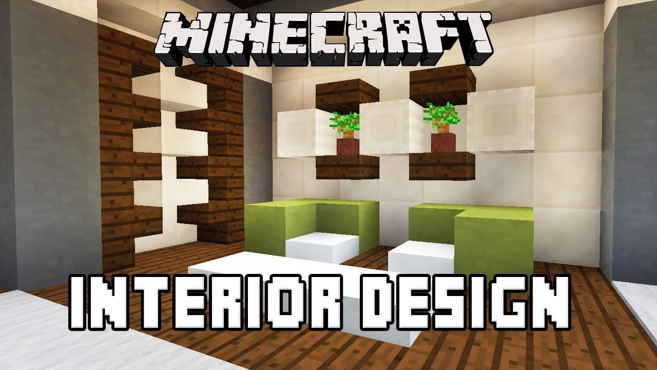 Minecraft Tutorial: Bathroom And Furniture Design Ideas (Modern House.