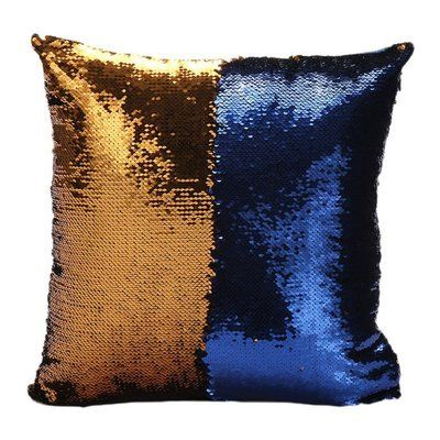Innova Imports Mermaid Pillow Cover Color: Gold/Blue