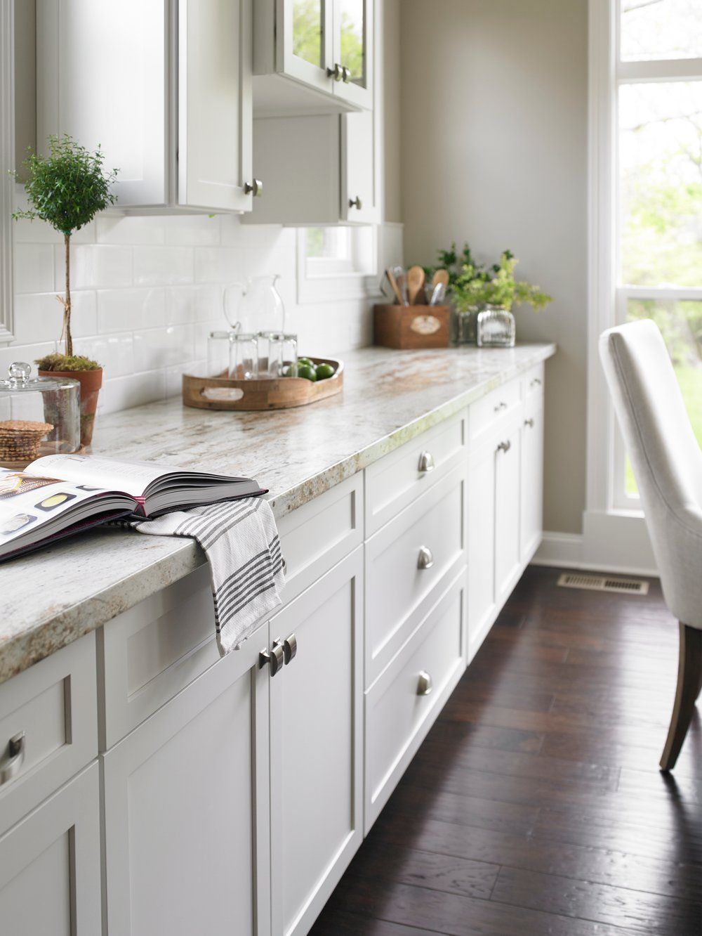 Neutral Countertops And White Cabinetry Make For A Calming