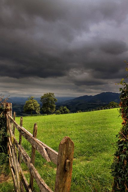 I Love It When Skies Are This Grey It Makes Every Color Pop Like The Green In This Beautiful Pictur Landscape Landscape Photography Beautiful Nature