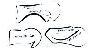 Image Result For Printable Cat Eyeliner Stencil Makeup Eyeliner