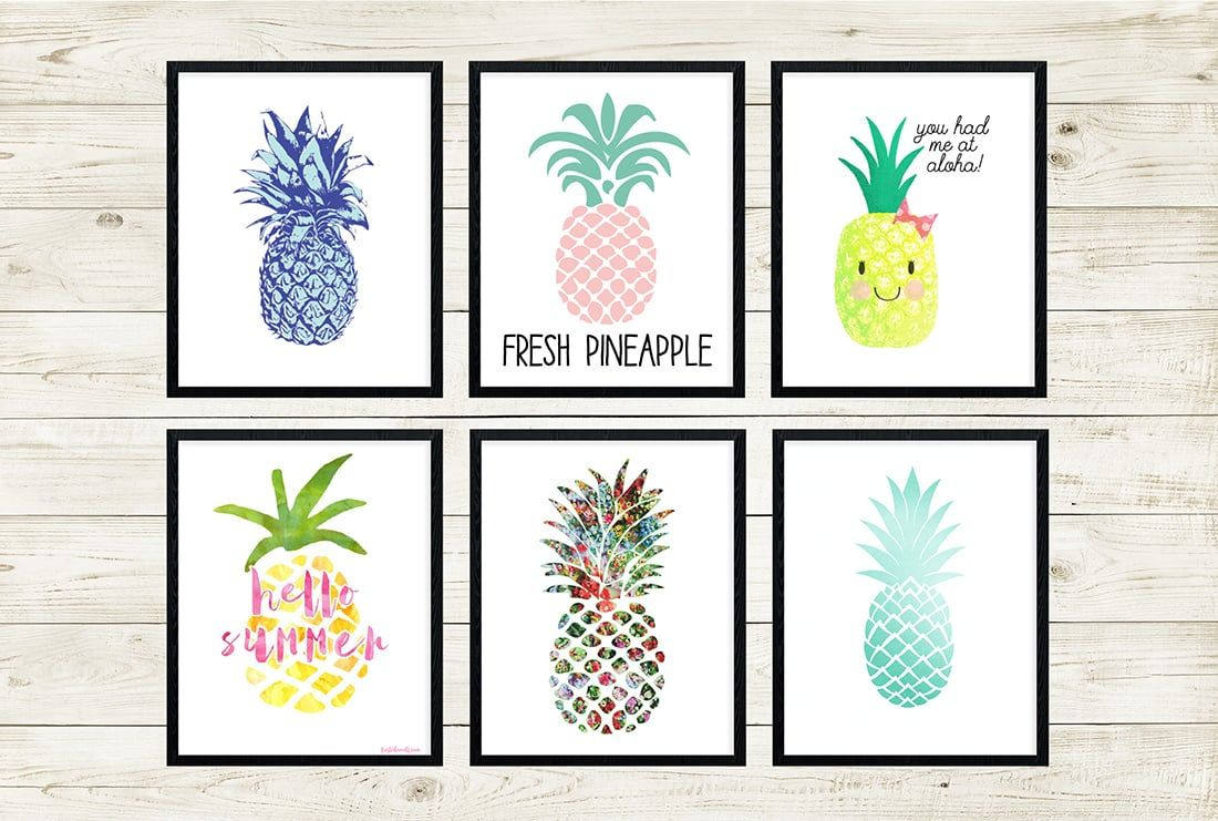 Free pineapple printables u amazing roundup bookmarks internet