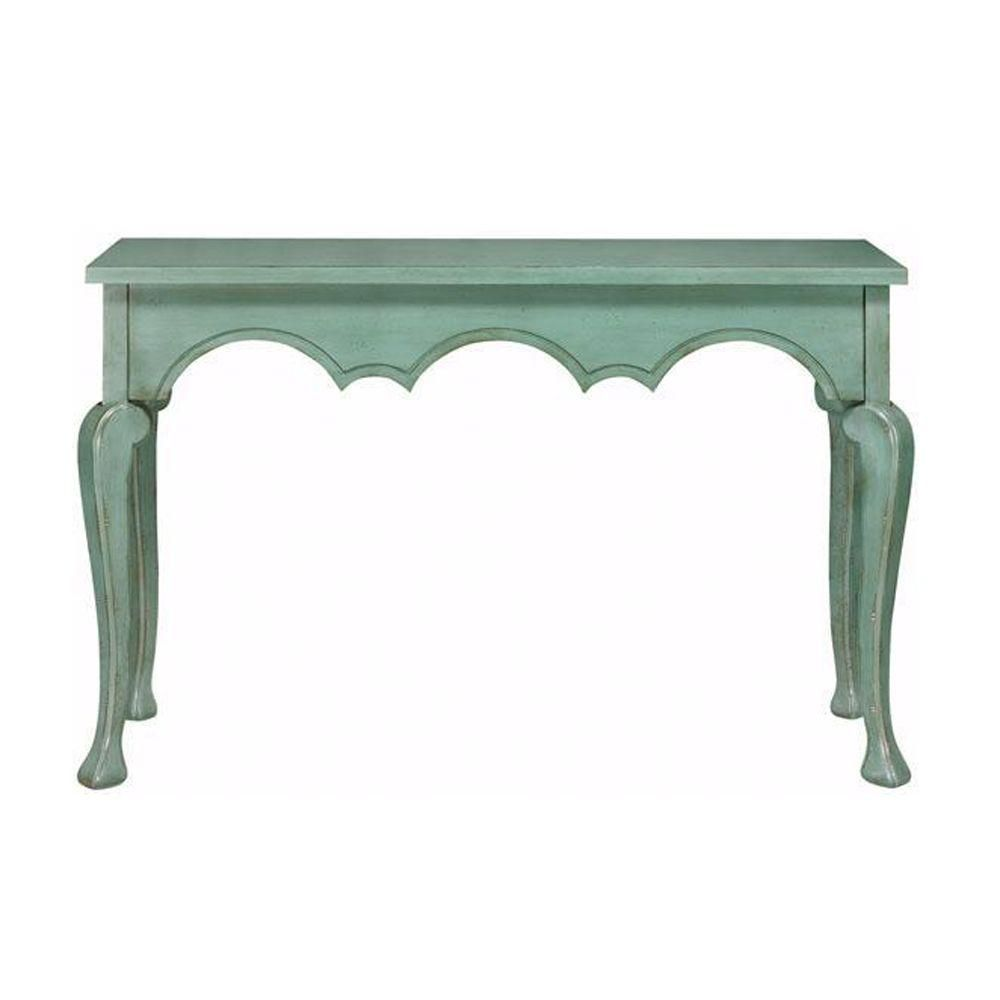 Home Decorators Collection Keys Antique Blue Console Table 0140500310 At  The Home Depot