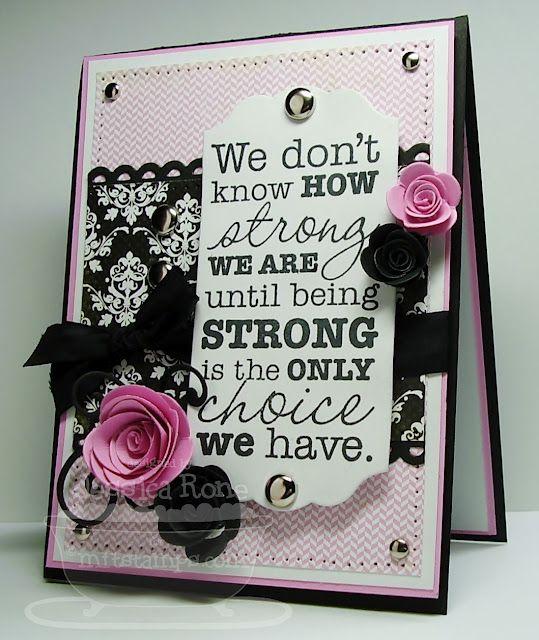 Being Strong....Black Vintage Seam Binding
