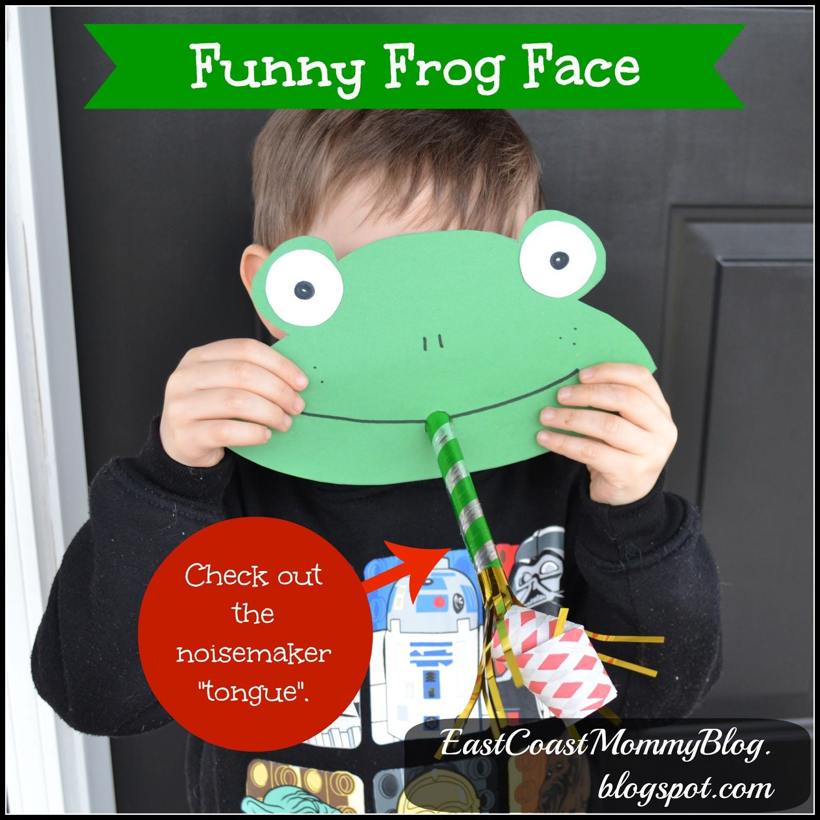 Funny Frog Face Preschool Craft