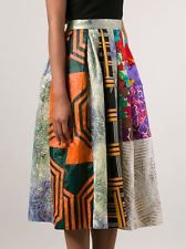 *DURO OLOWU* Celeb fave BOHO patchwork Skirt Most amazing workmanship ever! US 2
