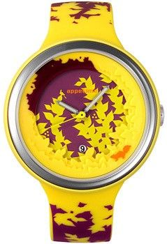 Click Image Above To Buy: Appetime Womens Kokage Plastic Watch - Yellow Rubber Strap - Multicolor Dial - Appsvj320057