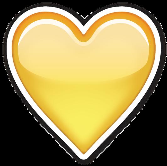 Yellow Heart Emojis Plantillas De Emojis Emojis De Iphone