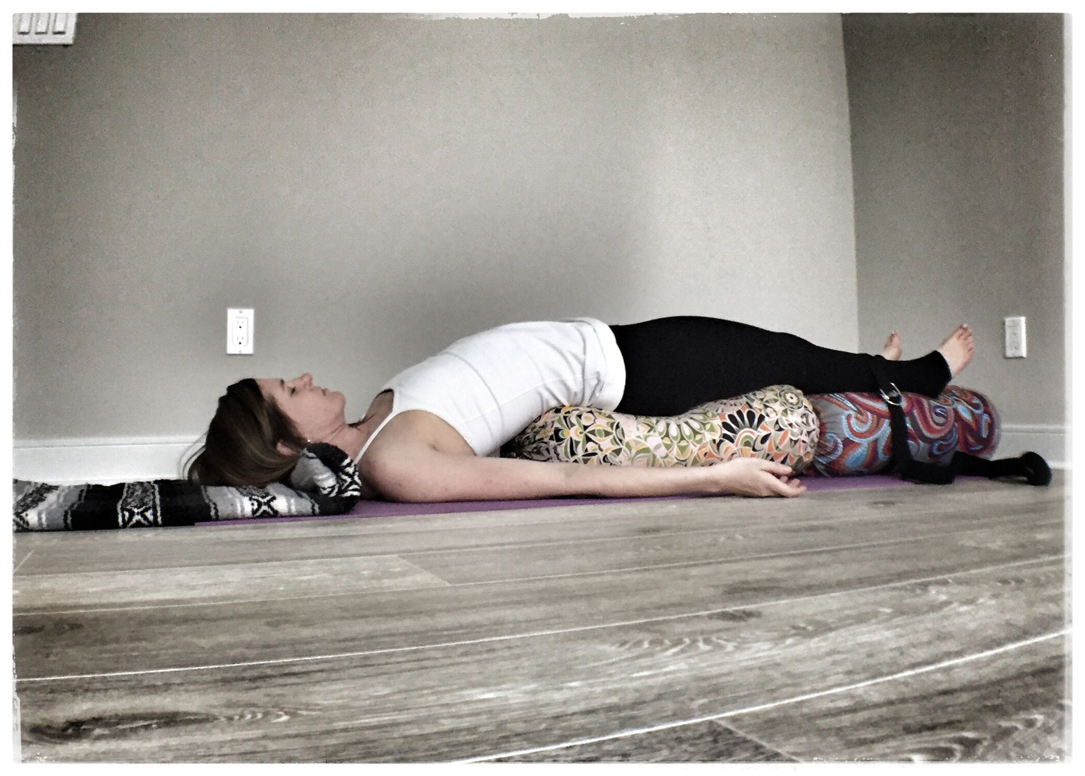 Restorative Yoga Pose Of The Week Bridge Pose Restorative Yoga Poses Restorative Yoga Restorative Yoga Sequence