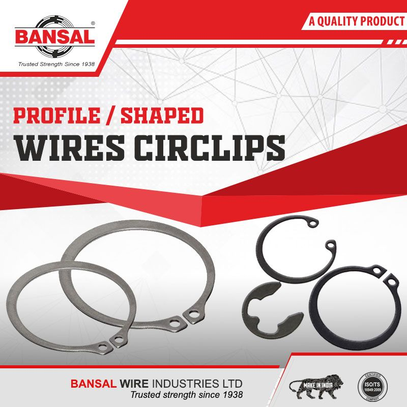 profile shaped wires circlips