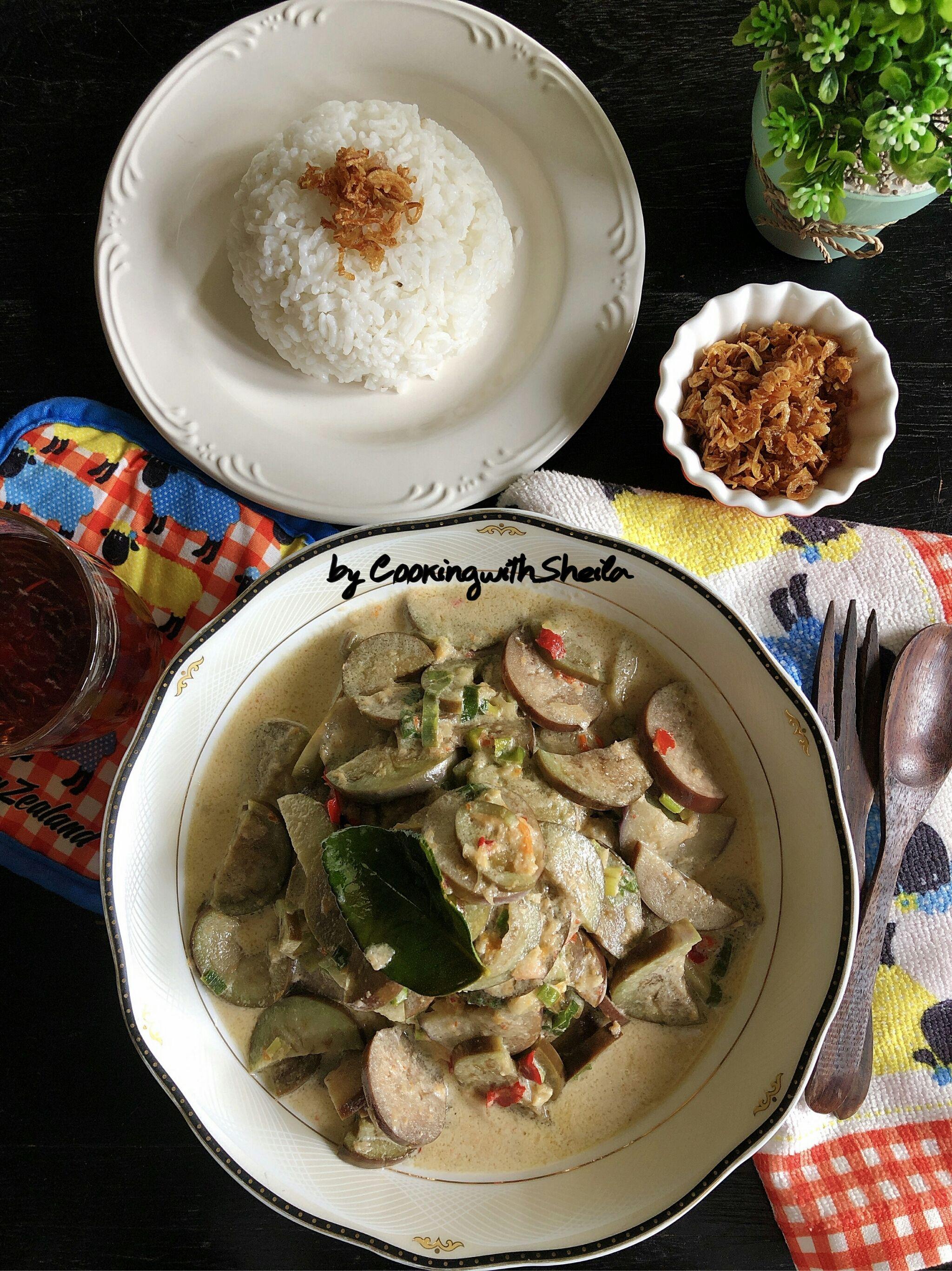 Terong Santan Resep Masakan Indonesia Resep Makanan Memasak